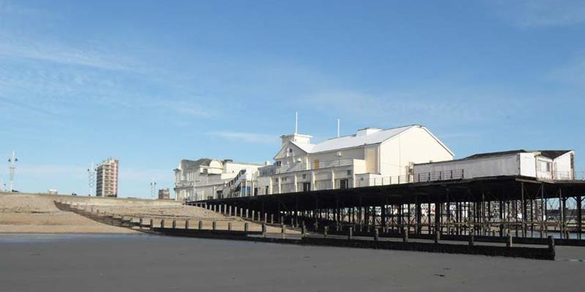 Bognor Regis pier from the sands